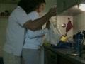 Amateur couple fucks in kitchen