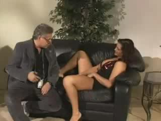 Young slut fucks an older man