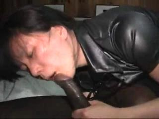Asian Girl Gets Black And White Creampie