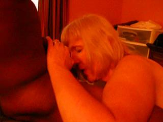 Mature Blonde loves her Young Black cock Pt#1