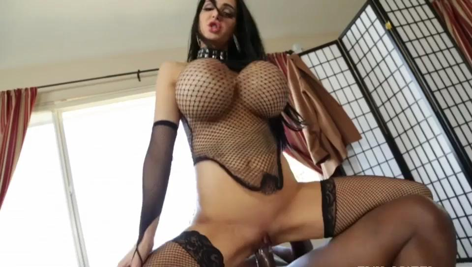 Brunette With Monster Tits Tiding A Monster Black Cock