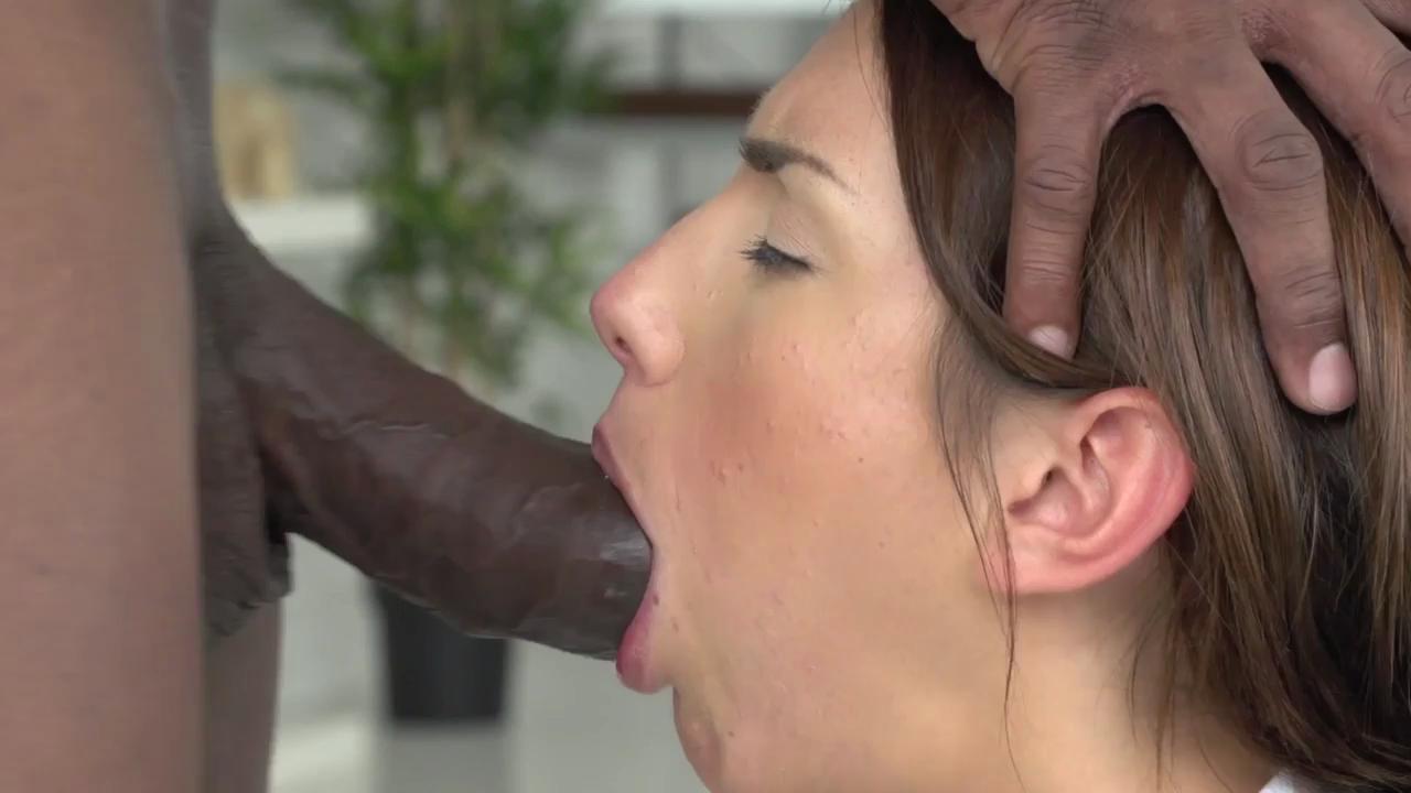 Hot Blonde  Takes Big Black Cock