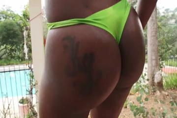 Stunning Black Girl white cock in her Ass