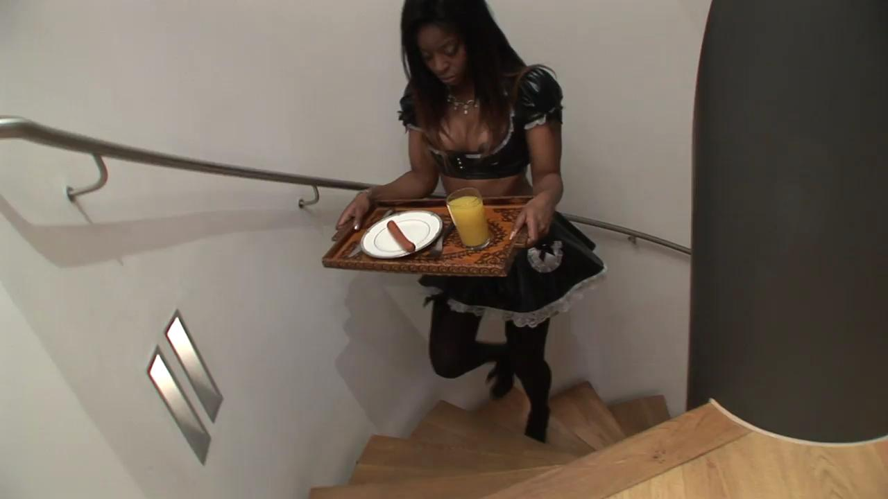 Beautiful Ebony Babe gets Fucked by a White Cock